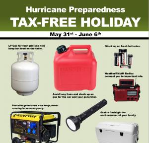 Tax Free Hurricane Supplies